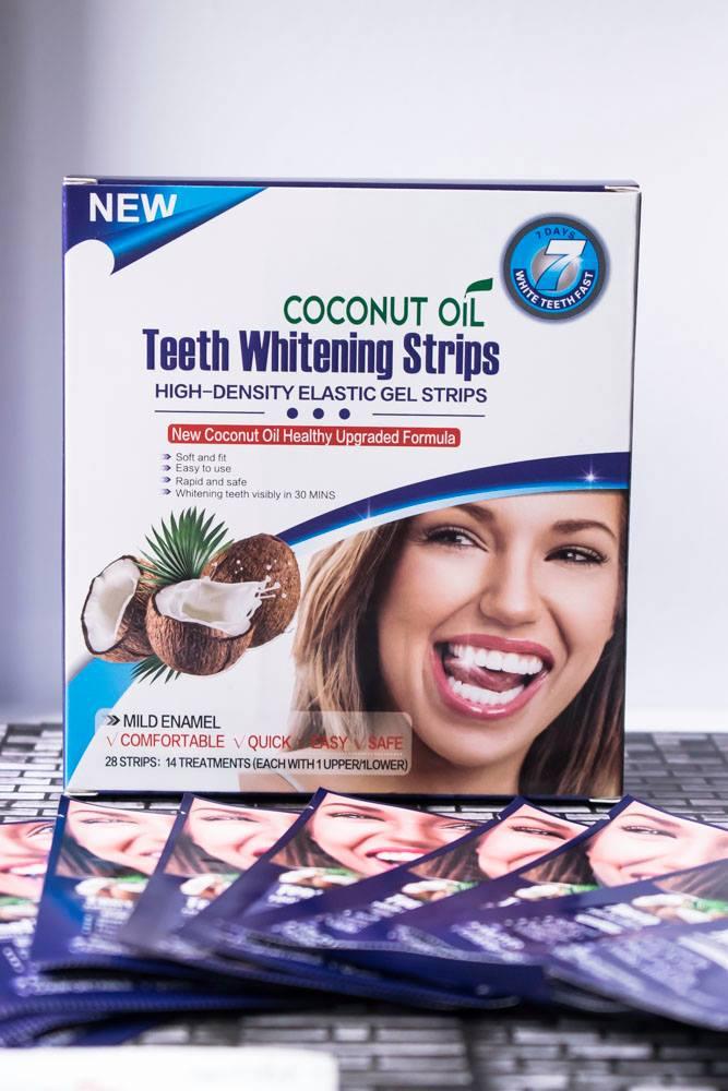 Albirea dinţilor: Coconut OilTeeth Whitening Strips